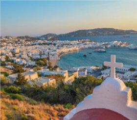 画像:2月 ミコノス島(ギリシャ) ファンタジーワールド(A) 2018年カレンダー