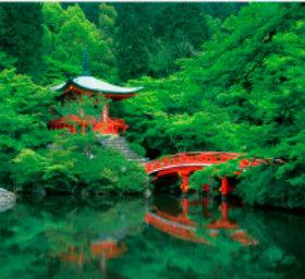 画像:7月 醍醐寺(京都) 日本の美 2018年カレンダー