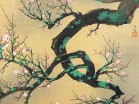 画像:1-2月 横山大観「梅花」 日本画巨匠名品集 2018年カレンダー
