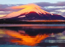 画像:12月 山中湖村より(山梨) 富士十二景 2018年カレンダー