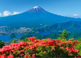 画像:5月 新道峠より(山梨) 富士十二景 2018年カレンダー