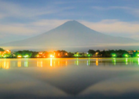 画像:6月 河口湖より(山梨) 富士十二景 2018年カレンダー