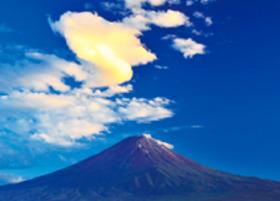 画像:8月 富士河口湖町より(山梨) 富士十二景 2018年カレンダー