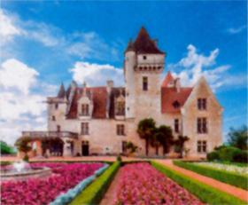 画像:フランスのミランド城 世界の名城巡り 2019年カレンダー