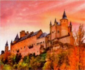 スペインのセゴビア城 世界の名城巡り 2019年カレンダーの画像