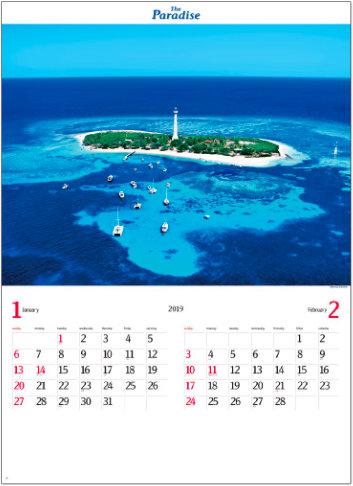 画像:ニューカレドニア パラダイス 2019年カレンダー
