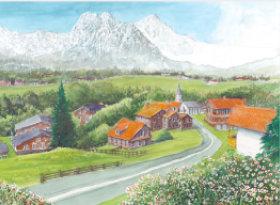 画像:グリンデルワルト(スイス) ヨーロッパ散歩道 2019年カレンダー
