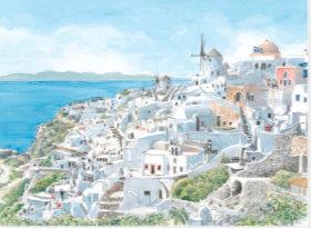 画像:ミコノス島(ギリシャ) ヨーロッパ散歩道 2019年カレンダー