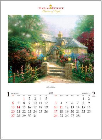 画像:トーマス・キンケード「Holly hock House」 トーマス・キンケード 2019年カレンダー