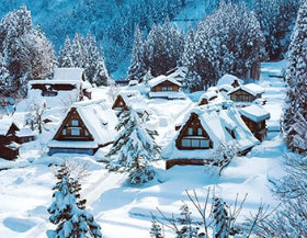 画像:富山県 五箇山の合掌造り ザ・日本 2019年カレンダー