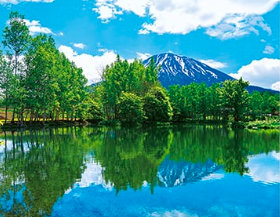 画像:半月湖から見る 羊蹄山 ザ・日本 2019年カレンダー