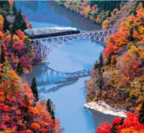 画像:福島 只見川 日本の旅想(フィルムカレンダー) 2019年カレンダー