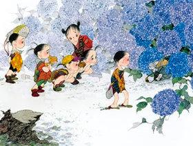 中島潔作品「雨上がりの詩」 風の詩 中島潔作品集(フィルムカレンダー) 2019年カレンダーの画像