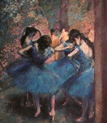 画像:ドガ作品「Dancers in Blue」 パリ・オルセー名作選(フィルムカレンダー) 2019年カレンダー