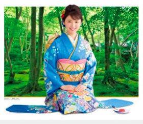 画像:おのののか・祇王寺 女優・きものと庭園 2019年カレンダー