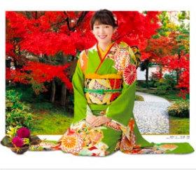 画像:飯豊まりえ・好古園 女優・きものと庭園 2019年カレンダー
