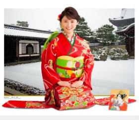 画像:おのののか・建仁寺 女優・きものと庭園 2019年カレンダー
