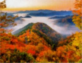 画像:滋賀県 おにゅう峠より 彩り日本(12月はじまり) 2019年カレンダー