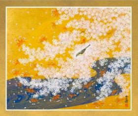 画像:石踊達哉 作品「桜川」 花鳥諷詠 石踊達哉 2019年カレンダー