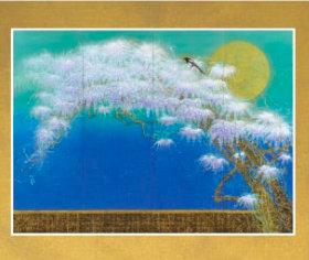 画像:石踊達哉 作品「コモ湖の藤」 花鳥諷詠 石踊達哉 2019年カレンダー