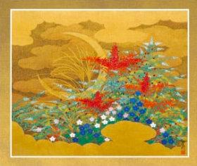画像:石踊達哉 作品「秋月」 花鳥諷詠 石踊達哉 2019年カレンダー