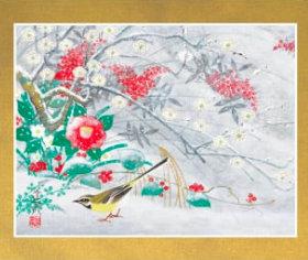 画像:石踊達哉 作品「雪の朝(部分)」 花鳥諷詠 石踊達哉 2019年カレンダー
