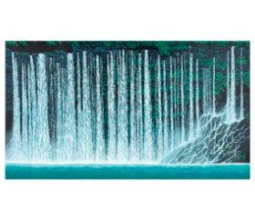 小暮真望作品「渓声白糸の滝」 小暮真望版画集 2019年カレンダーの画像