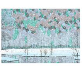 画像:小暮真望作品「田代池の四季」 小暮真望版画集 2019年カレンダー