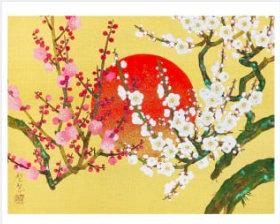 画像:森田りえ子作品「初春」 森田りえ子作品集 2019年カレンダー