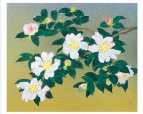画像:森田りえ子作品「山茶花」 森田りえ子作品集 2019年カレンダー