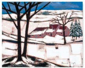 画像:ロジェ・ボナフェ作品「冬の黒い木立」 ロジェ・ボナフェ作品集 2019年カレンダー