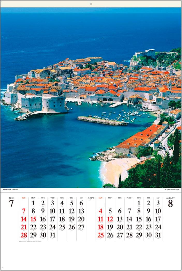画像:クロアチア ドブロブニク ワイドヨーロッパ(フィルムカレンダー) 2019年カレンダー