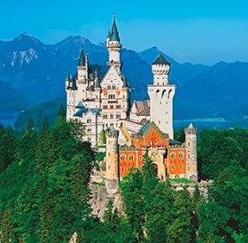 画像:ドイツ ノイシュバンシュタイン城 ワイドヨーロッパ(フィルムカレンダー) 2019年カレンダー