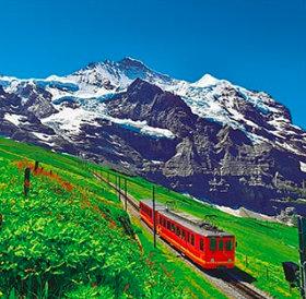 画像:スイス ユングフラウ鉄道 ワイドヨーロッパ(フィルムカレンダー) 2019年カレンダー