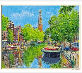 画像:小田切訓作品「鳩のいる運河(オランダ)」 ヨーロッパの印象 小田切訓(フィルムカレンダー)  2019年カレンダー