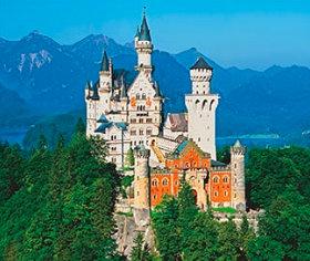 画像:ノイシュバンシュタイン城(ドイツ) 世界の名勝(フィルムカレンダー・小) 2019年カレンダー