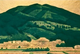 画像:平山郁夫 作品「大和飛鳥村」 平山郁夫作品集 2019年カレンダー