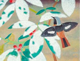 画像:福田平八郎 作品「新雪」 日本画巨匠名品集 2019年カレンダー