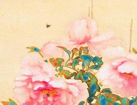 画像:西村五雲 作品「冨貴草」 日本画巨匠名品集 2019年カレンダー