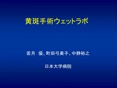 黄斑ウェットラボ(Ophthalmic Surgery Film Award Education部門シルバー賞 2015年)