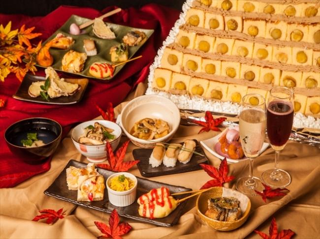 上野の和食ビュッフェ「大地の贈り物」にて「松茸(まつたけ)&秋スイーツ」が食べ放題の『松茸&秋の味覚フェア』スタート!