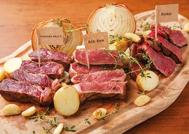 29(肉)の日限定!牛の部位食べ比べプレート
