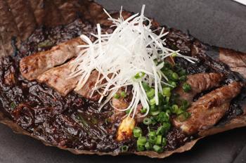 熟成牛の朴葉味噌焼き