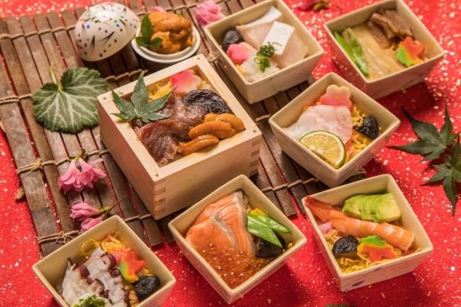 <新感覚!>「あたたかいお寿司」!? お米も具材もふっくら、とろけるような舌触り…。「みやぎサーモン」や「秋田錦牛」、「うに」、「いくら」まで豪華食材を惜しみなく使用!「蒸し寿司フェア」開催!