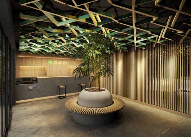 京都河原町駅から徒歩1分。解放感たっぷりの屋上テラスラウンジを完備した最先端カプセルホテル『GLANSIT KYOTO KAWARAMACHI』がこの秋オープン!
