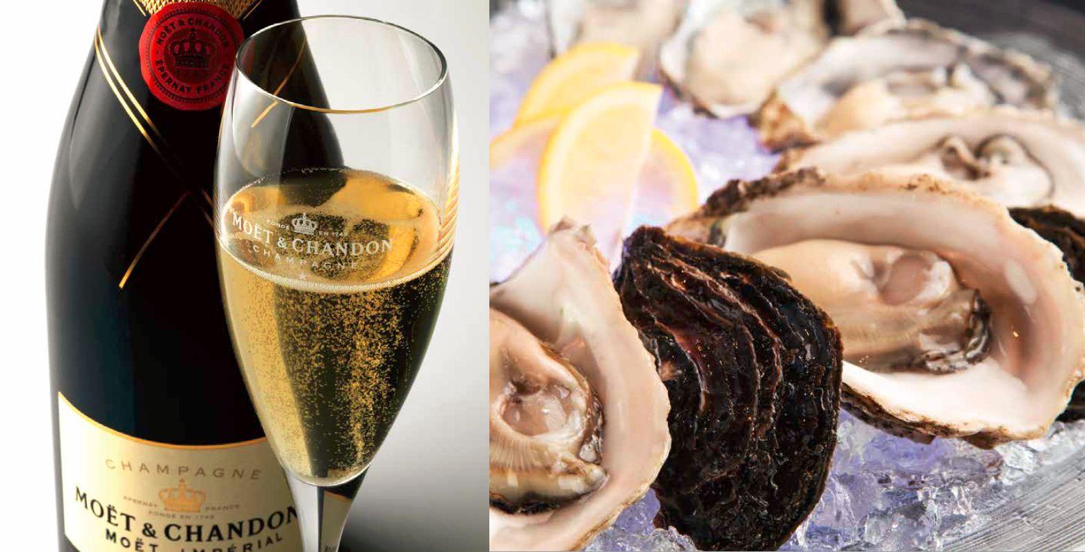 真夏の夜の大人贅沢なデートにぴったりの「牡蠣シャン」がお得に楽しめる「モエ&オイスター」フェア オイスタープラッターご注文でグラスモエプレゼント