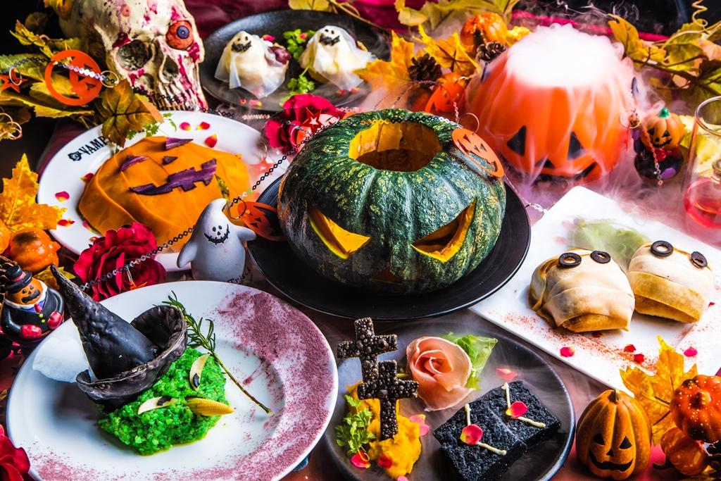『銀座レストラン VAMPIRE CAFE (#ヴァンパイアカフェ)』に「ドラキュラ城のブラッディハロウィンコース」登場!