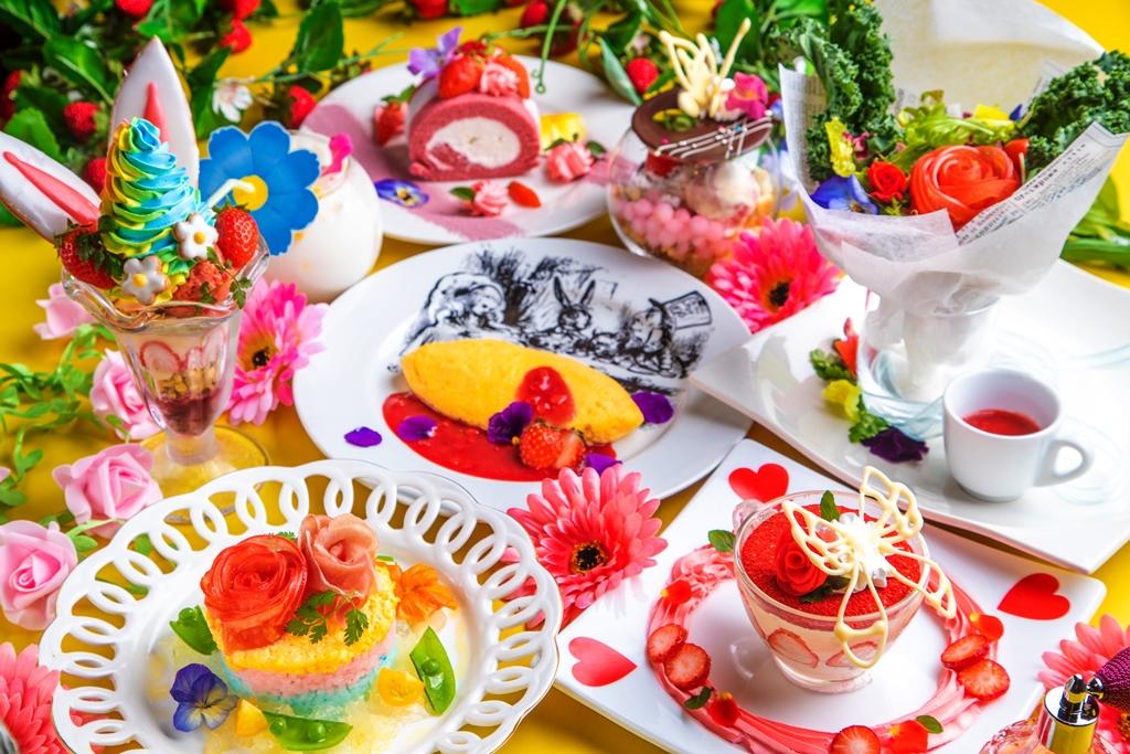 """不思議の国でお花見!?いちごスイーツやタピオカドリンクも賑やかに咲き誇る〝アリスのフラワーガーデンフェス""""開催!"""