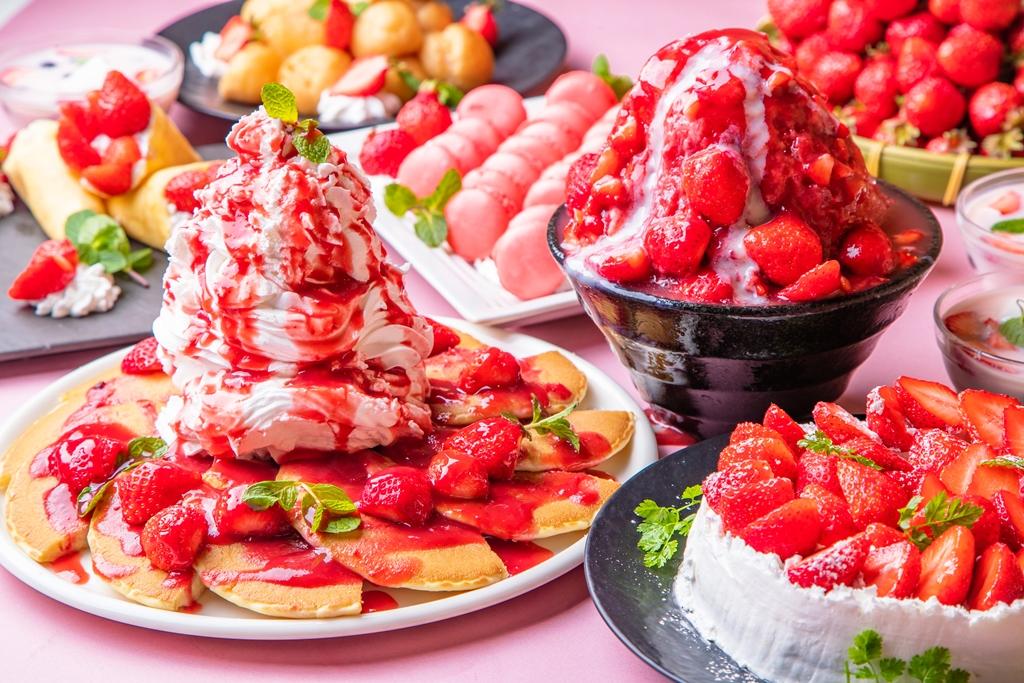 ビュッフェレストラン「大地の贈り物」で「フレッシュいちご3種食べ比べ&いちごスイーツ食べ放題フェア」開催!