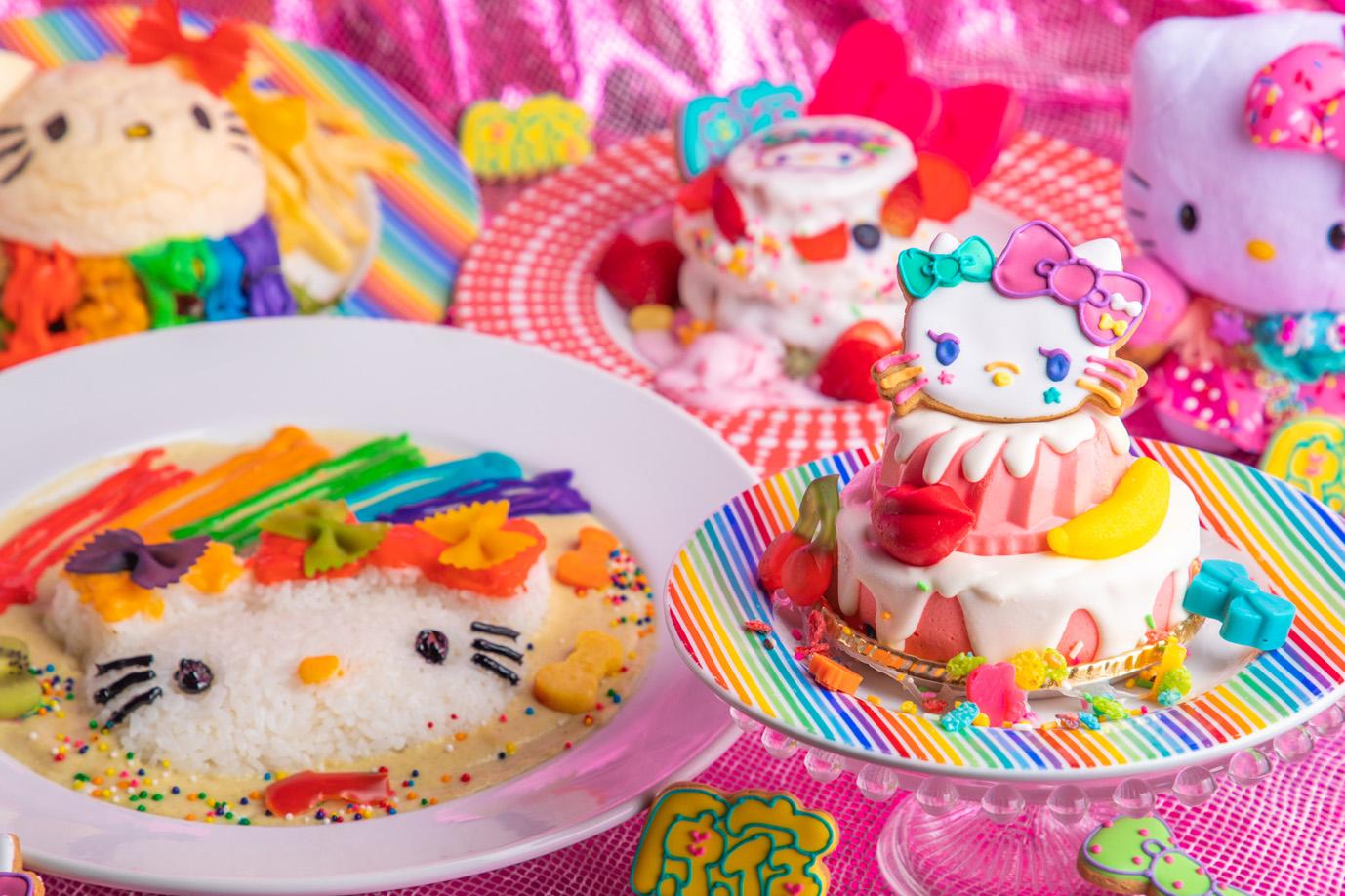 「ハローキティ」×「KAWAII MONSTER CAFE」夢のコラボレーション!KAWAIIカルチャーと融合したデコラティブな''ハローキティ''がついに完成